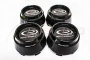 Rota Wheels P45r P45f Gloss Black Replacement Wheel Center Caps Rb