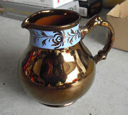 Antique Numbered Gibson's England Pottery Copper Glazed Pitcher LOOK