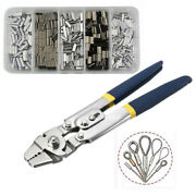 Stainless Steel Fishing Pliers Wire Rope Swager Crimpers And Crimping Sleeves Tool
