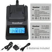 Nb-4l Battery And Fast Charger For Canon Powershot Sd430 Sd450 Sd600 Sd630 Sd750