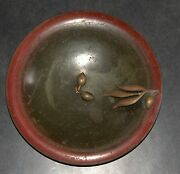 Israel Vintage Bronze Bowl Tray Olive Ascalon Rabban 1950and039s Signed Pal Bell