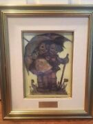 New Old Stock 1981 Hummel Limited Edition Canvas Sunny Weather Framed Print