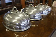 Rare Set Of 4 Victorian English Graduated Size Meat And Food Domes By James Dixon