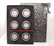 Pb5 Air-tite Storage Box Capsule And 6 Model H German 5 Reichmark 29mm Coin Holder