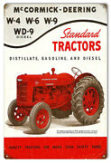 Mccormick-deering Tractors Construction Reproduction Country Sign 12x18