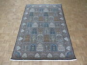 6'9 X 10'1 Hand Knotted Multi Colored Garden Tabriz With Silk Oriental Rug G4997