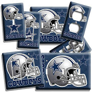 ☆ Dallas Cowboys Football Team Symbol Light Switch Outlet Plate Man Cave Bedroom