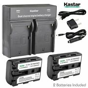 Np-fm50 Battery And Charger For Sony Dsr-pdx10 Hdr-hc1 Hdr-sr1 Hdr-ux1 Hvr-a1u