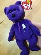 Mint Condition Purple Ty Princess Diana Beanie Baby Still Has Swing Tag