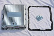 Gm Chevy 700r4 4l60e Polished Aluminum Transmission Pan W/ Bolts And Gasket Kit