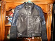New Barbour Women Leather Motorcycle Jacket Black And Blue Us 8 Sold Out @ 1598