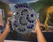Large Vintage Signed Mid Century Modern Glazed Pottery Fish Plate Platter