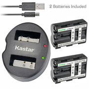 Np-fm500h Batteryanddual Usb Charger For Sony Dslr-a580l A580y A700 A700b A700k