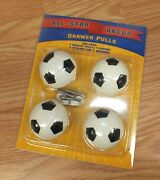 All-star Decor 1s102 4 Soccer Ball Drawer Pulls With Hardware New