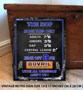 Sheffield Wednesday Fans Football Retro Vintage Metal Wall Sign Rs557