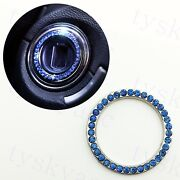 Car Parts Engine Start Stop Push Button Ignition Ring Cover Interior Decor Blue