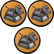 Doctor Who K9 Robot Dog Set Of 3 Embroidered 3 Diameter Patches