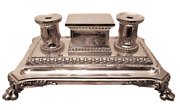 Wilkinson And Co Sterling Silver Table Top Double Inkwell