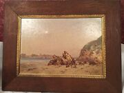 Original Impressionist Oil Painting By Listed French Plain Aire Landscape Artist