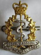 Royal Canadian Army Medical Corps Large Silver And Gold Cap Badge