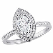 Amour 4/5 Ct Tw Diamond Halo Engagement Ring In 14k White Gold