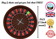 Buy 2 Get 3 Edible Cake Topper Roulette Wheel Quality A4 Icing Paper