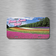 Jesus Loves You Vehicle License Plate Front Auto Tag Plate Christian Peace New