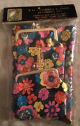 New Old Store Stock 1960s 4-piece Cosmetic Bag/glass Case/coin Purse/tissue Pak
