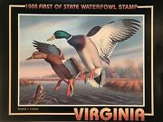 1988 Virginia First Of State Duck Stamp Poster By Ronald J. Louque