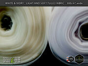 Ivory Or White - Soft Tulle Net Fabric - Bridal Veiling And Events - 300cm Wide