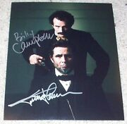 Billy Campbell And Jesse Johnson Signed Killing Lincoln 8x10 Photo B W/exact Proof