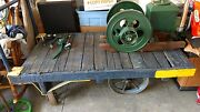 Antique Steampunk Industrial Fairbanks Railroad Station Baggage Cart