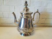Mermod And Jaccard Jewelry Co. St. Louis Silver Plated Teapot W/ Flower And Bird Dec