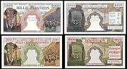 Copy French Indo-china 1000 200 Piastres 1951 Elephants Banknotes Not Real