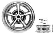 1965-73 Mustang Magnum Alloy Wheel Chromed 17x7-inch W/cap New Dii