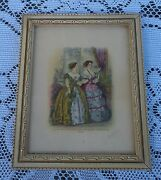 Vintage Collectible Wall Art Godeys Unrivalled Colored Fashions 1854 1950's