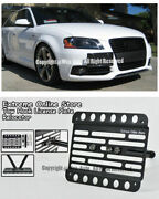 05-11 For Audi S3 A3 Front Bumper Tow Hook Mount License Plate Bracket Relocated
