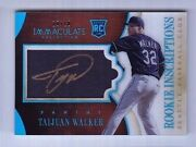 2014 Immaculate Taijuan Walker Inscriptions Acetate Blue On Card Auto Rc 10/10