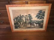 Original N. Currier And Ives American Country Life May Morning Large Folio