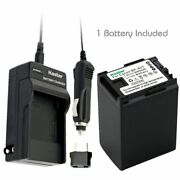 Bp-827 Battery And Regular Charger For Canon Legria Hf21, Hf36, Fs36, Fs37, Fs305