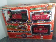 Lionel Battery Operated Christmas Holiday Toy Train Set W/ Sounds G Gauge 62134