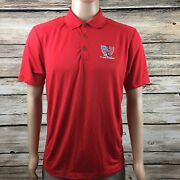 Nike Golf Dri Fit Polo Logo Red Itand039s About The Warrior Menand039s Medium M - A264
