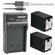 Bp-827 Battery And Slim Usb Charger For Canon Legria Hf21, Hf36, Fs36, Fs37, Fs305