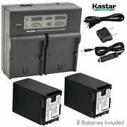 Bp-827 Battery And Dual Lcd Charger For Canon Legria Hf21, Hf36, Fs36, Fs37, Fs305