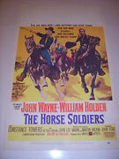 The Horse Soldiers John Wayne 1959 Authentic Original 14x22 Movie Poster 505