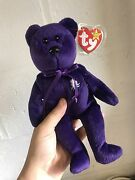 Rare Ty Beanie Baby 1st Edition Princess Diana Made In Indonesia 1997.