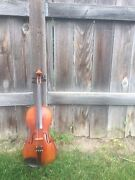 Classic Full Violin S.w. Niles Label 1932 With Bow And Hard Case Beautiful Sound