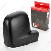 Door Wing Mirror Cover Black Front Right Passenger For Vw Transporter V Lhd