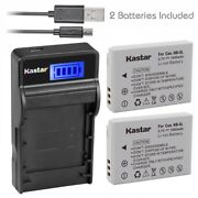 Nb-5l Battery And Slim Lcd Charger For Canon Powershot S100, S110,sd700 Is,sd790is