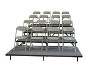 Staging 101 S4ssi 8 16 24 32 High 4 Panel Straight Seated Riser Industrial